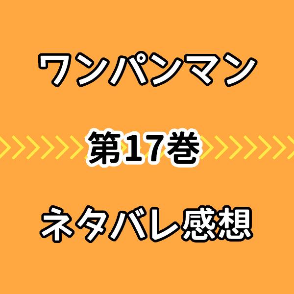 ワンパンマン17巻ネタバレ感想!ガロウ戦の師弟対決の決着シーンに感動!