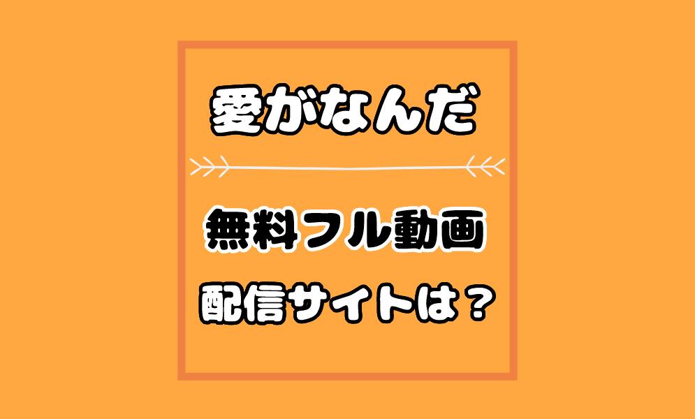 映画【愛がなんだ】動画
